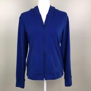 MIX & CO Full Zip Front Blue Lightweight Hoodie